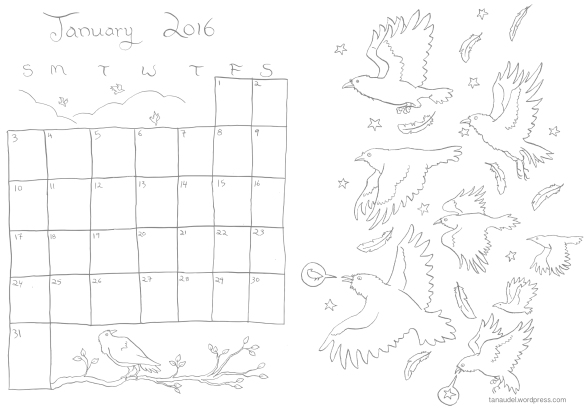 January Calendar Final Colouring