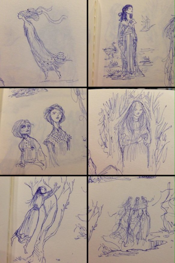 Picnic at Hanging Rock sketches