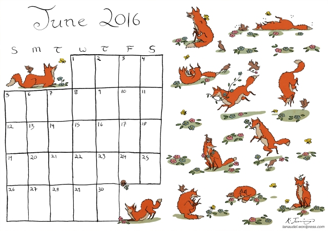 June Calendar - Colour
