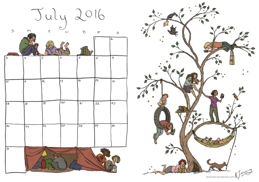 July Calendar - Colour