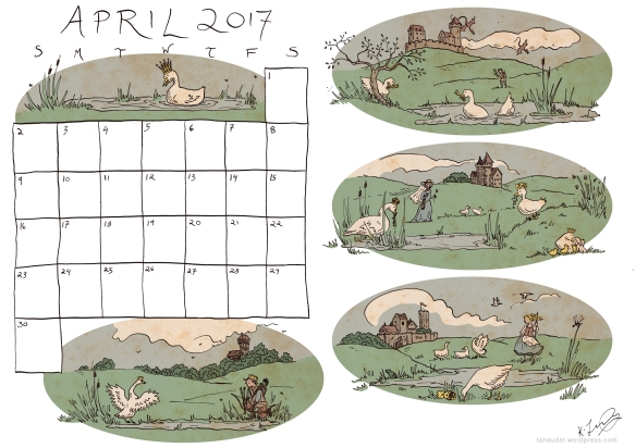 April Calendar Colour
