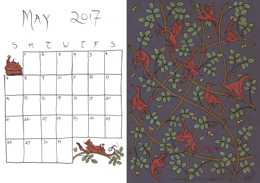 May 2017 Calendar - Colour