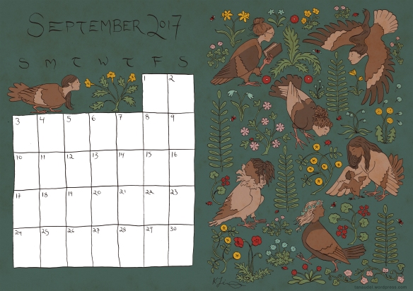 September Calendar - Colour