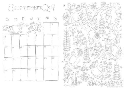 September Calendar - Lines