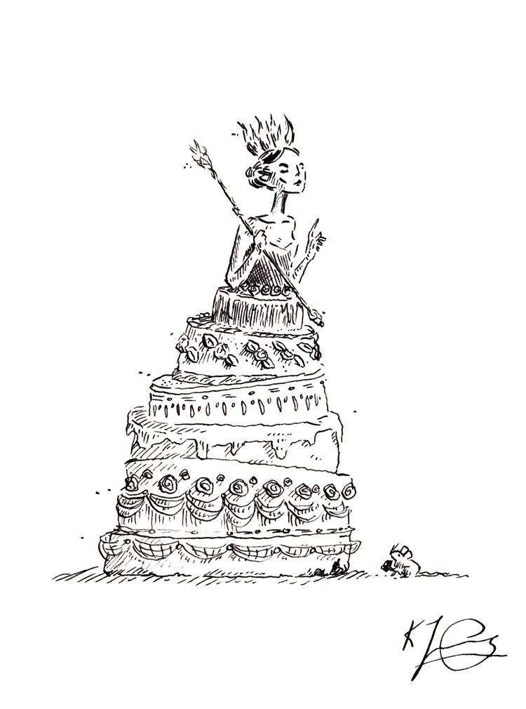 Cake-Queen---ink