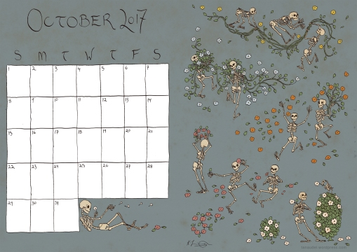 October Calendar - Colour