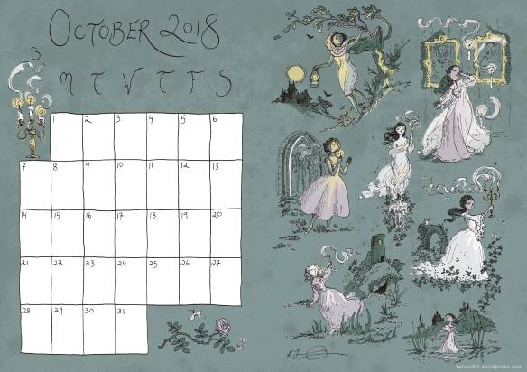 October Calendar - Colour