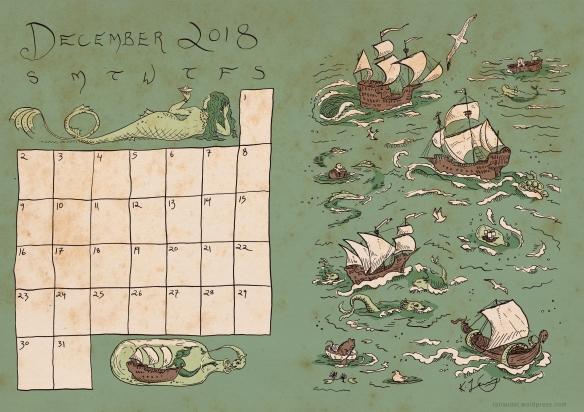 December Calendar Colour
