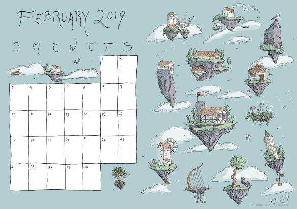 february calendar colour