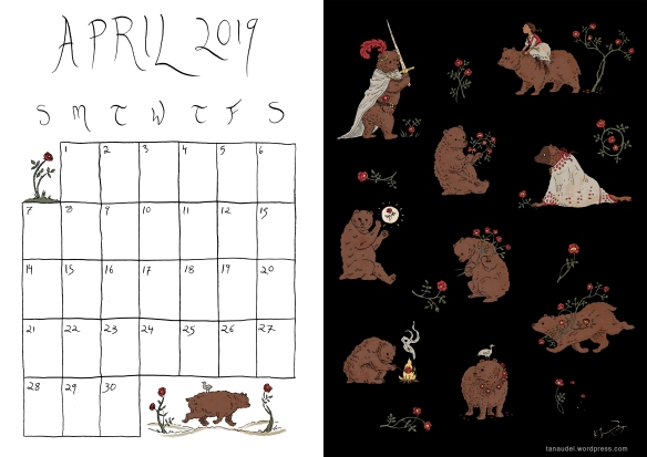 April Calendar-Colour
