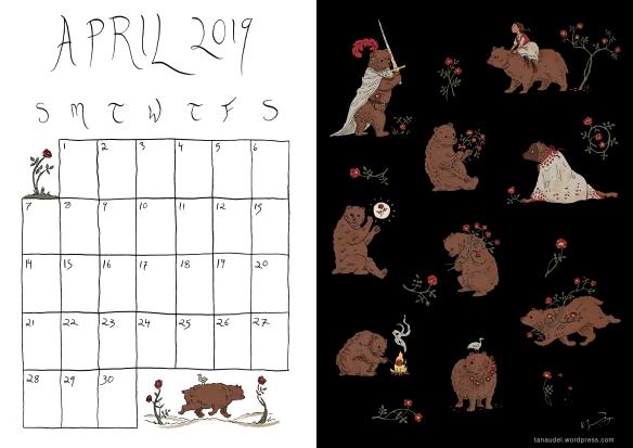April Calendar-Colour