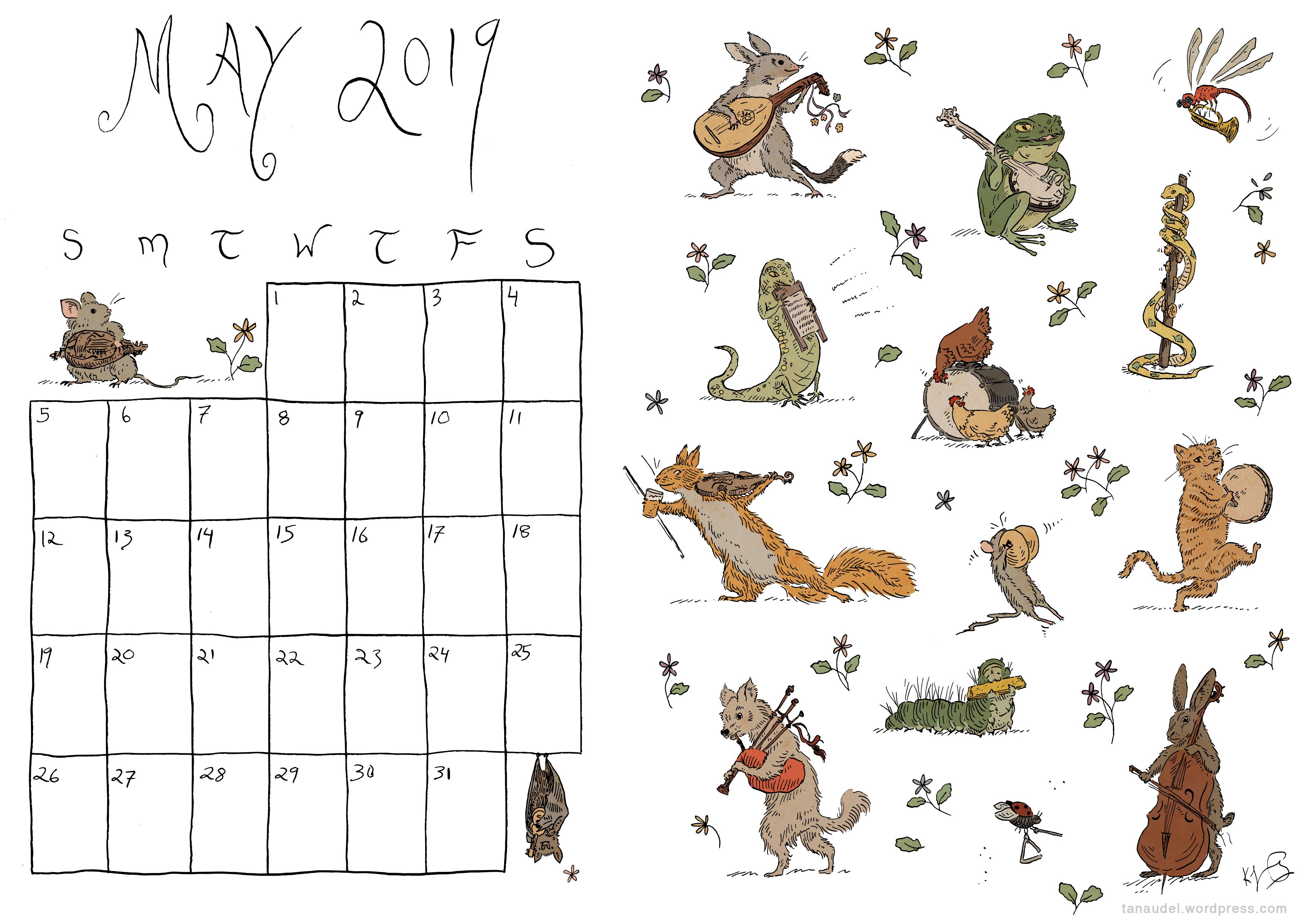 May Calendar - Colour