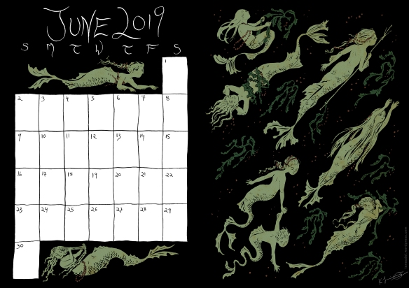 June Calendar - Colour