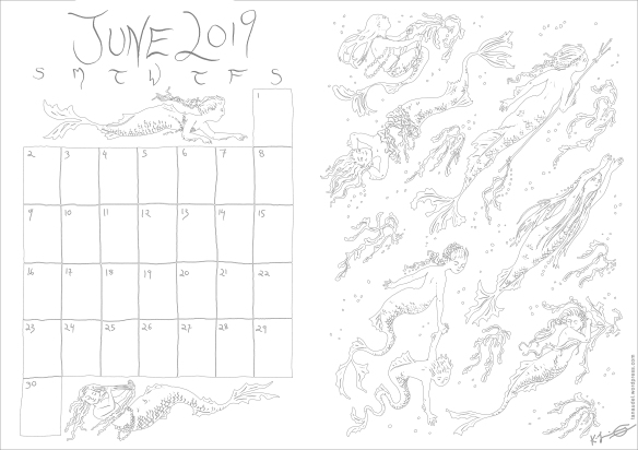 June Calendar - Lines