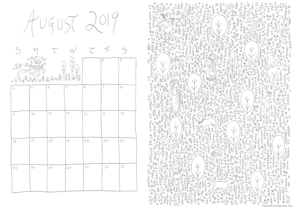 August Calendar - Lines-web