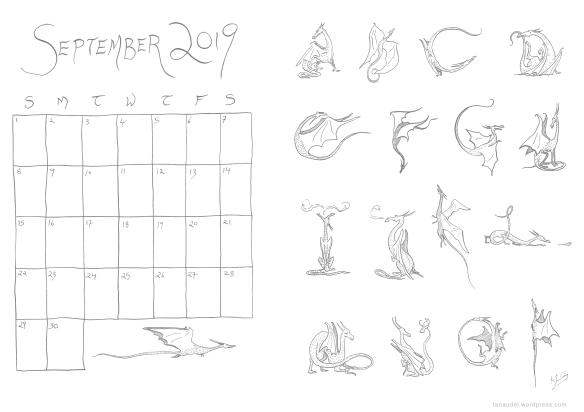 September Calendar Lines