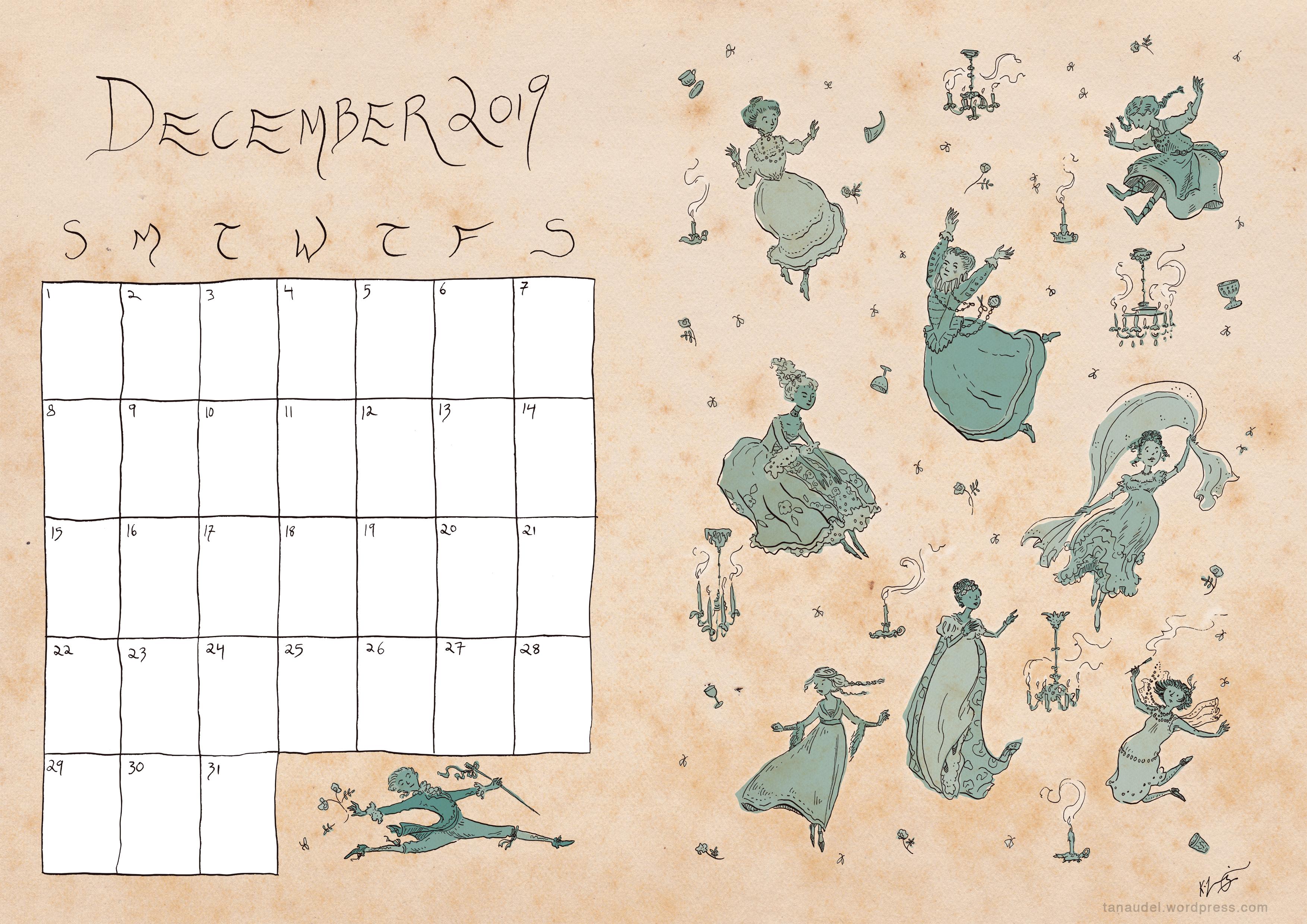 December calendar - Beige