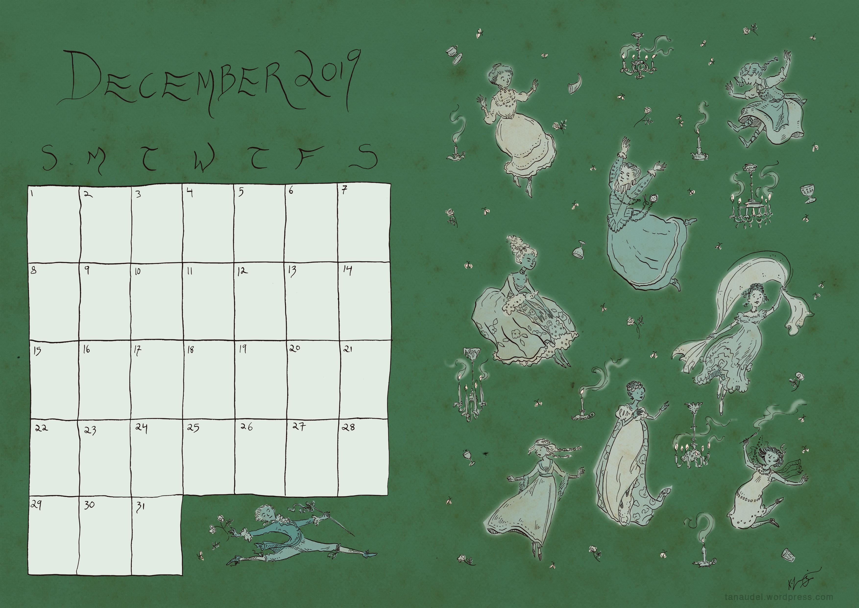 December calendar - Green