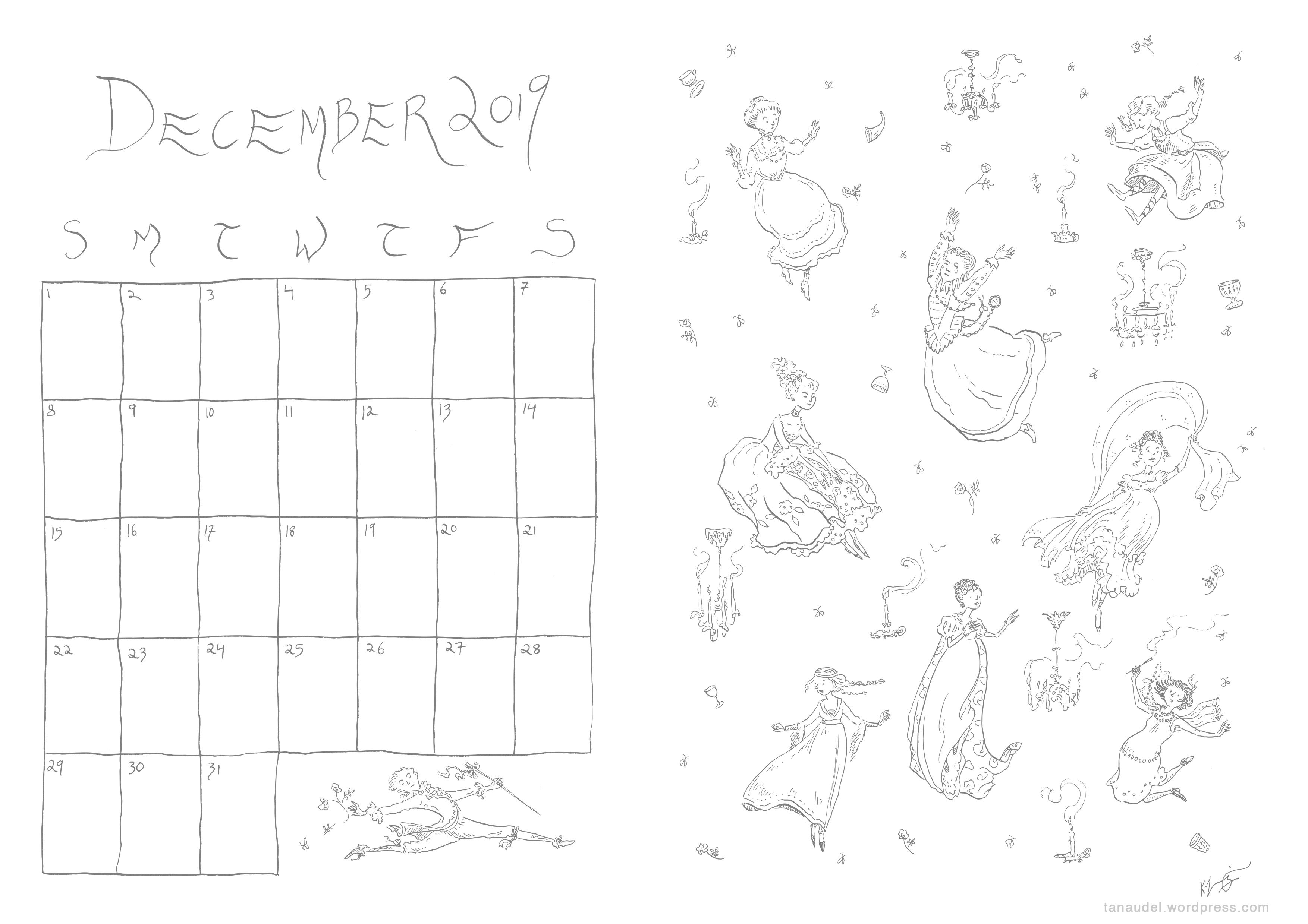 December calendar - Lines
