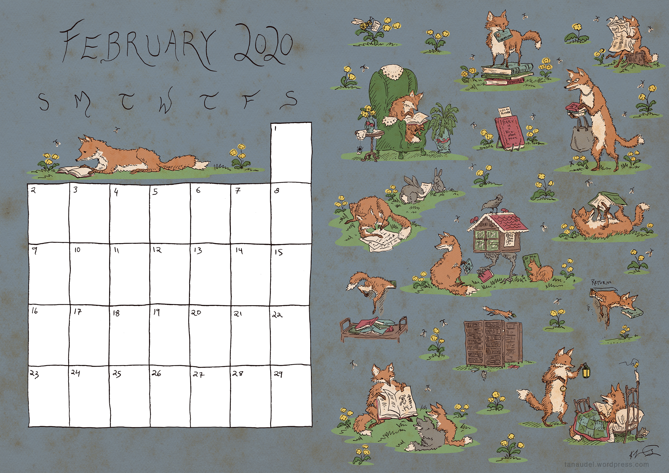 February Calendar Colour blog