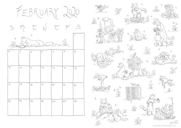 February Calendar Lines blog