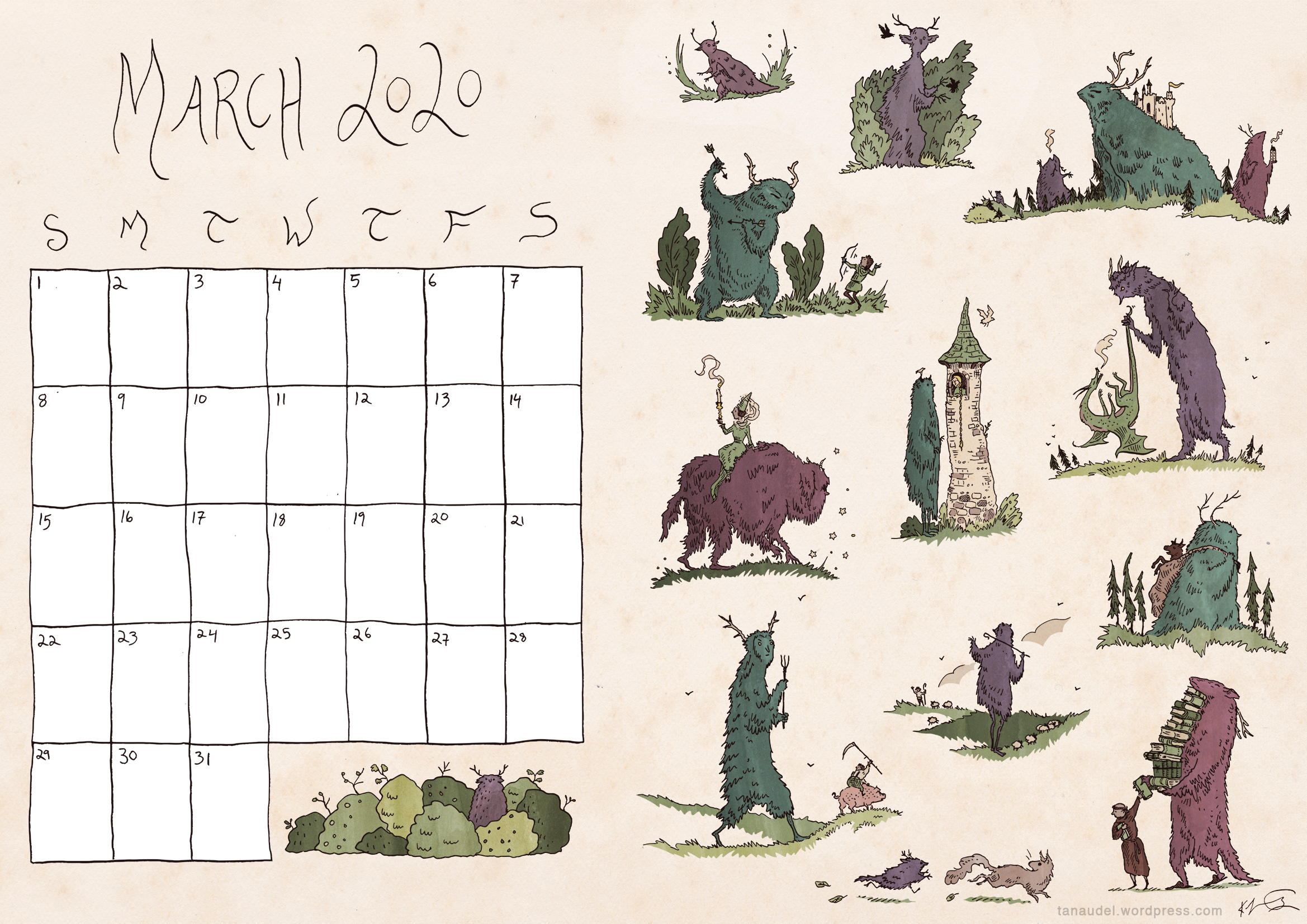 March calendar colour-blogres