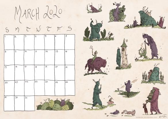 March calendar colour-blogres