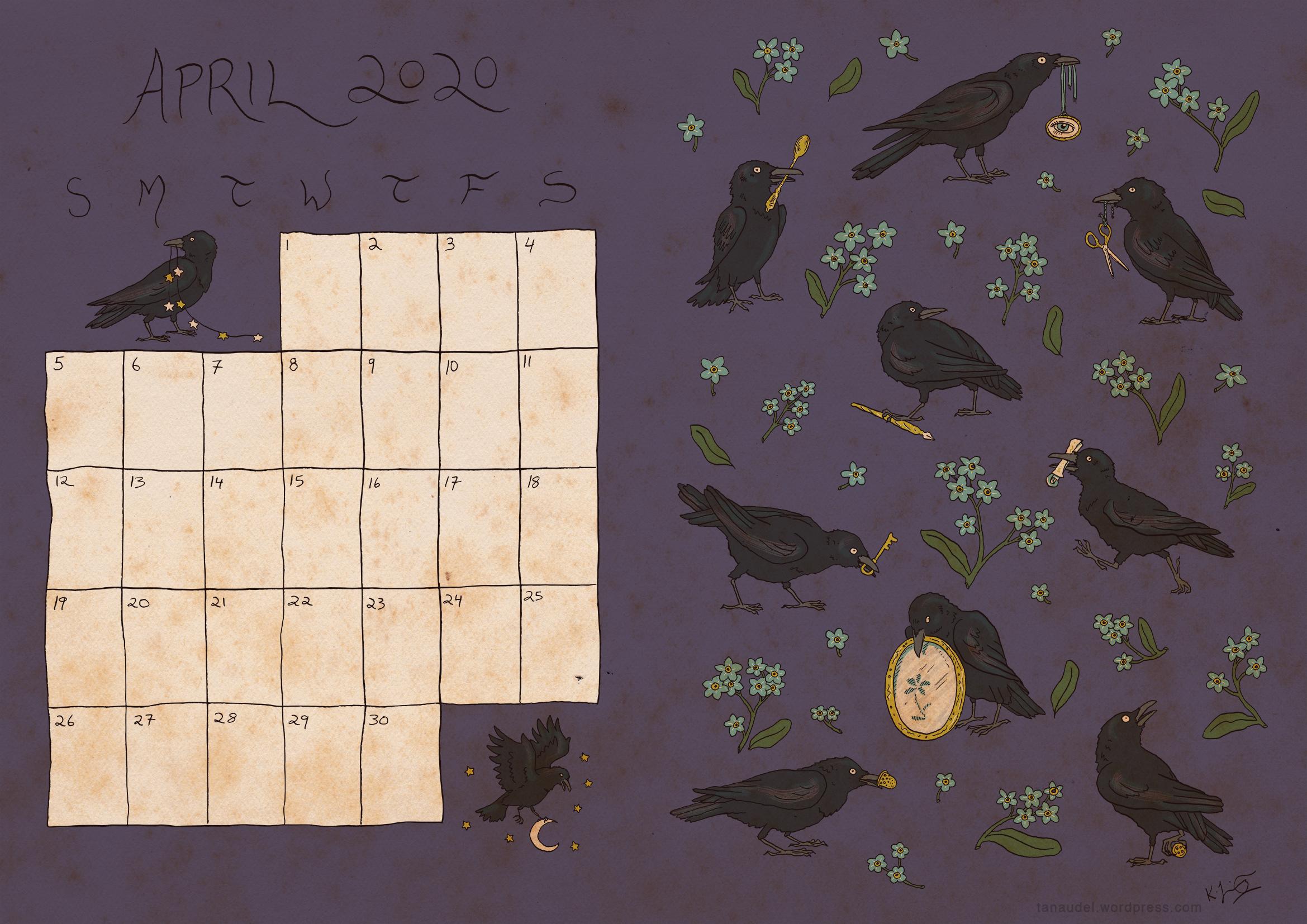 April calendar - colour-web