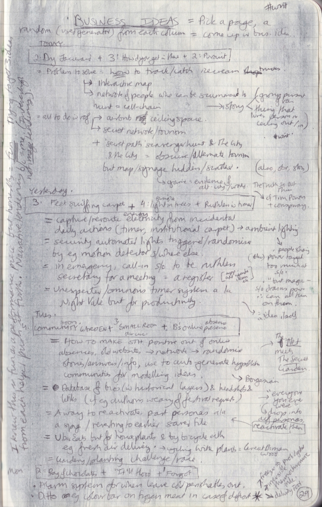 Close-up of densely handwritten pages of the observation journal.